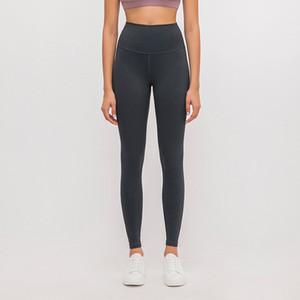 Femmes Yoga Pantalons solides taille haute sports de course Legging femme élastique respirant Fitness Vêtements de loisirs Tight 05