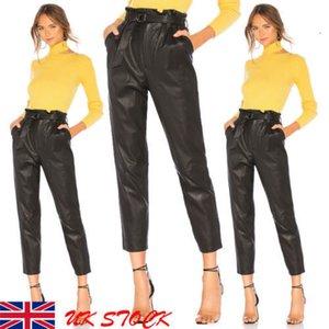 Designer Leggings Womens pantaloni donne degli Stati Uniti signora Leather vita alta Jeggings Stretch Pantalone con tasche cintura dei pantaloni di trasporto di goccia di buona qualità