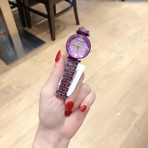 2020 hot sale fashion ladies watch stainless steel gypsophila crystal high-grade quartz watch gift ladies watch gift clock