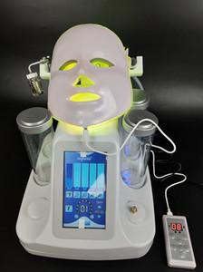 2019 Nuovi aspirapolvere 7in1 Hydro Dermabrasion Aqua Hydra Detergente per la cura della pelle Acqua ossigeno Jet Peel Ultrasonic BIO lifting LED Beauty Mask