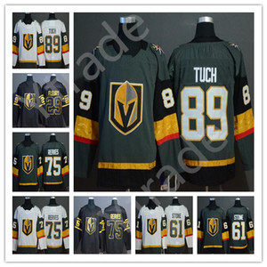 Alex Tuch 61 Mark Stone Jersey Vegas Golden Knights 2019 Golden Edition 29 Marc-Andre Fleury 75 Ryan Reais 71 Karlsson Hockey Jersey