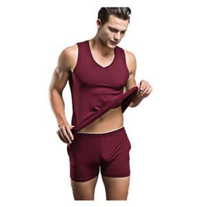 2016 Sommermens Sexy Nachtwäsche Herren Cotton Nachtwäsche Brand New-Unterwäsche-Träger Pullunder Casual Men Pyjama Sets Mens Pyjamas