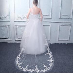 Einfache 3m lange Brautschleier Weiß Elfenbein Brautschleier Günstige Beach Church Brautschleier Hochzeit Zubehör