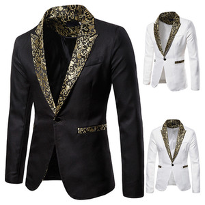 Mens Designer Blazers Slim Stampato da sposa abiti uomo Pulsante singolo a maniche lunghe risvolto collo Abbigliamento Uomo