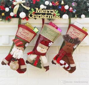 كبيرة حقائب جوارب عيد الميلاد هدية بابا نويل كاندي جورب شجرة عيد الميلاد شنقا زخرفة الديكور عيد ميلاد سعيد