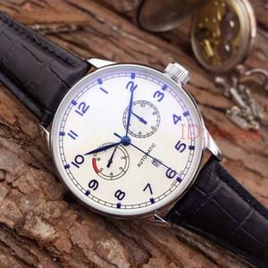 Black Leather Relógios IW Top Fashion pp Mens Mecânica Aço Inoxidável Movimento automático Assista Sports homens Relógios de pulso
