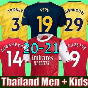 HOMMES enfants ensembles uniformes 2019 2020 kits de football ARSENAL maillot de football 19 20 TIERNEY HENRY GUENDOUZI maillot de football hauts de football
