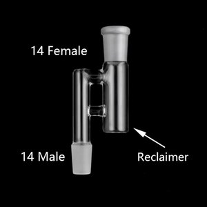 meia fábrica de adaptador de vidro Reclaim Masculino / Feminino 18 milímetros 14 milímetros Conjunto 10 estilos Vidro Recuperadora adaptadores Ash Catcher para plataformas petrolíferas Bong