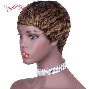 Perücken sehen echte Frisuren für mittelgroße Haare Frauen Wigs Black Mix Red Short Pony Black Marley Perücken Brasilianische Frisuren für Schnitthaare