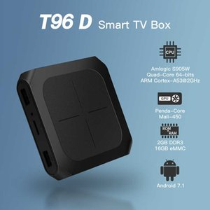 T96D Android TV BOX 7.1 2GB 16GB Amlogic S905W Quad Core 2.4G 5Ghz wifi 4K HDR Media player 1GB 8GB Smart Set Top Box