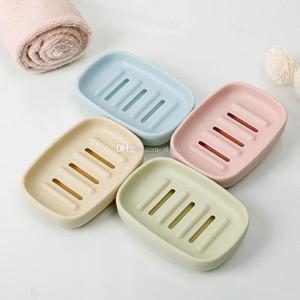 Plastica Sapone Piatti Bagno creativo doppio drenante Soap Holder slittamento non Piastra Box Contenitore per vasca doccia Bagno WX9-1702