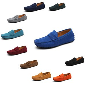 2020 nuevos hombres alpargatas zapatos casuales de castaño redonda de color rojo sólido Bowtie piel formador de triple gota zapatilla de deporte belleza caminar rápido envío