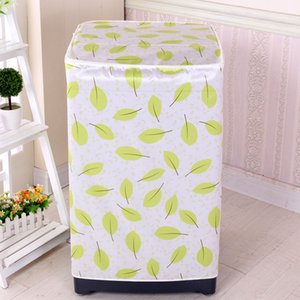 Washing Machine Cover Protective Home Front Loading Case Dust Proof Waterproof Accessory Floral Printed Bathroom Cute Zipper