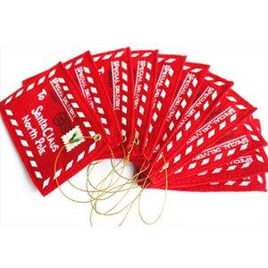 عيد الميلاد الأحمر مغلف كاندي حقيبة هدايا عيد الميلاد بطاقة مغلف مغلف شجرة عيد الميلاد زخرفة الديكور المنزلي بالجملة VT0689