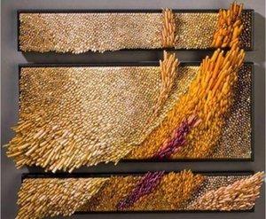 Por mayor hecho a mano soplado en el cristal del viento Diseño de pared de vidrio placas Decoración del vidrio del arte de la pared decorativos