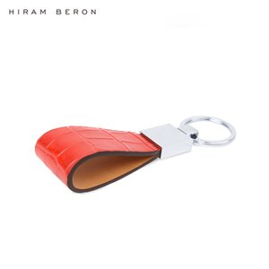 Leather Key Holder Men Genuine Hiram Keychain Beron Metal Key Ring Custom Name Or Initial Service Crocodile Pattern