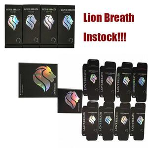 Lions Breath Vapes Cartridges Vape Pens 510 oil carts Packaging E Cigarette Atomizer 0.8ml1.0ml Round Press Tip Instock Ceramic Vaporizer