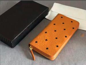 Кожаные кошельки для большой емкости Корейская версия высококачественной моды YKK на молнии мужской и женский длинный кошелек