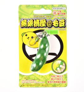Anti-stress di plastica divertente fagioli portachiavi pis decompressore giocattoli novità soia spremere ventilare toyAdult giocattoli per bambini regali