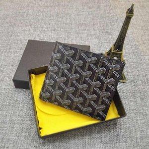 GOYARD wallet Designer Hommes Luxe hommes célèbres Petit portefeuille Coated toile avec plusieurs en cuir véritable court Bifold Portefeuilles Porte-monnaie avec la boîte