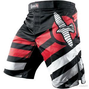 MMA Boxing Mens Shorts UFC Casual Athletic Gym pantaloni bicchierini di svago esterno maschio Pantaloncini fitness Boardshorts