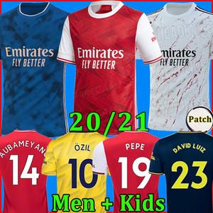 TOP Arsen soccer jersey 2020 2021 PEPE NICOLAS CEBALLOS HENRY GUENDOUZI SOKRATIS MAITLAND-NILES TIERNEY 19 20 football shirt Men + Kids kit