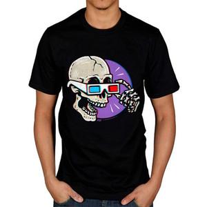 Des femmes des hommes lunettes 3D sont crâne Cracking drôles t-shirts Hauts Hauts Streetwear Vintage Nouveauté Graphic T-shirts