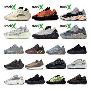 ayakkabı 2020 New Kanye West Stockx 700 Boost Running Shoes Azael Alvah Alien Mist Wave Runner 700 v2 Carbon Blue Vanta Luxury Designer Sneakers Trainers