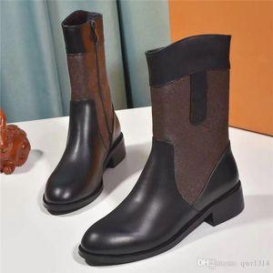 2019 Luxus-Damenschuhe Mode Luxus Designer Damenschuhe Superstars berühmten Luxus Old Blume Haut Ankle Boots Frauen-Kleid-Schuhe