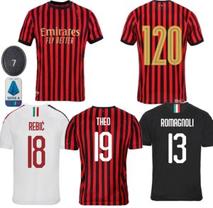 21 Zlatan Ibrahimovic 7 S.CASTILLEJO AC Milán fútbol Jersey ROMAGNOLI 8 SUSO 10 Calhanoglu BORINI camiseta de fútbol Piatek Paquetá CUTRONE