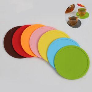 Таблицы силикона размещения коврики нескользящая напитки подставки для столовых приборов подставки для подставки Кубок коврик для посуды силикон кухня инструмент YP386