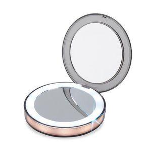 جديد led المضاء البسيطة ماكياج مرآة 3x مكبرة المدمجة سفر المحمولة استشعار الإضاءة ماكياج مرآة SK88