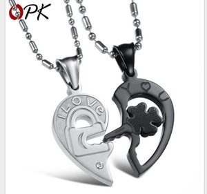 Accessories Market Contains Pure Steel Chains Black Couple Necklaces