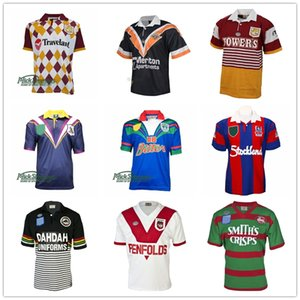 Retro Jersey Rugby Jersey 1979 ST GEORGE 1991 Penrith Panther 1989 Südsydney Rabbitohs 1998 West Tigers Melbourne NRL Liga S-5XL
