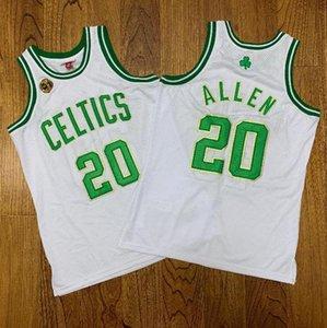 Men Basketball BostonCeltics20 Allen Mitchell & Ness 2007-2008 White Green Swingman Sleeveless Jersey And Pant