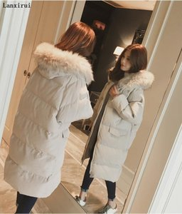 New Oversized Coats Thick Winter Jacket Women Hooded Fur Collar Down Cotton Coat Long Jacket Female Parkas Mujer Maxi Coats
