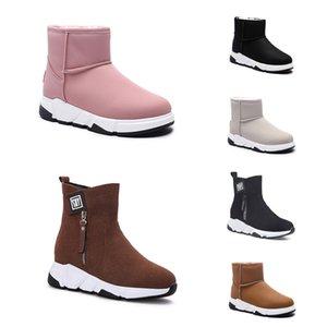 Designer Shoes sin marca Speed Trainer casual zapatos del calcetín Negro Rosa Beige planas mujeres de la manera Calcetines Runner zapatillas de deporte 36-40, artículo # 25