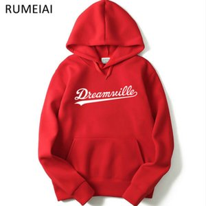 Men Dreamville J. COLE Sweatshirts Autumn Spring Hooded Hoodies Hip Hop Casual Pullovers Tops Clothing B700605