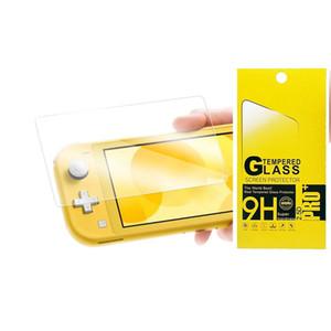 Protecteur d'écran 100pcs / lot en verre HD avec protection en verre trempé HD pour Nintendo Switch Lite 9H en paquet de détail