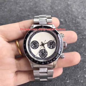 Orologio di alta qualità di lusso Vintage 38mm Cosmograph Paul Newman 6263 Cronografo svizzero ST19 7750 Movimento meccanico a carica manuale Orologi da uomo