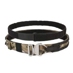 """TMC tattici Cinture 1.75"""" 2"""" Inner esterno Due Belt Rigger Duty AustriAlpin Buckle w / D Anello Caccia accessori"""