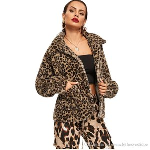 New Luxury Leopard Womens Coat Fashion Thick Long Sleeve Printed Outerwear Winter Womens Designer Loose Lapel Neck Tops Hot Sale