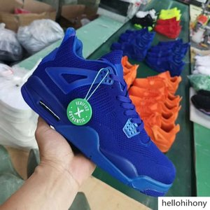 2019 Knit 4 Fly University Red 4 IV 4s Volt men Basketball shoes Hyper Royal Total Orange mens sports outdoor sneakers 40-47