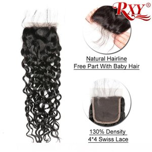A Wholesale Water Wave Virgin Human Hair Bundles With Closure Wet And Wavy ?Peruvian Hair Bundles With Closure Water Wave3 Bundles With