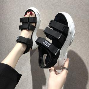 Sandalias cómodas sandalias de playa Denim TUINANLE gladiador zapatos de 2020 del verano mujeres de la moda
