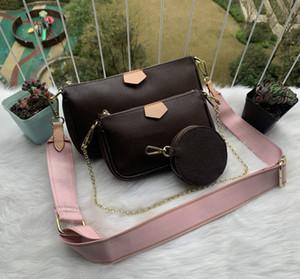 2020 женщин 3шт сумки PU кожаная сумка Tote Женский стиль Вечерние сумки на молнии высокого качества сумка Lady Оригинальный дизайн сумки Sac M44813 M44814