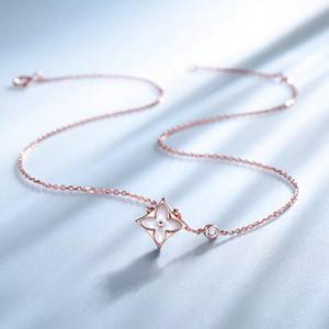 Марка дизайнер ювелирных женщина ожерелье белый корпус не красный агат клевера ожерелье высокого качества ожерелье титана никогда не увядает