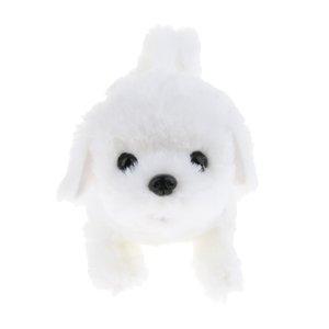 2 Pieces elétrica Plush Dog Robot Caminhada Bark Wag da cauda do filhote de cachorro caçoa o presente -Bichon Frise