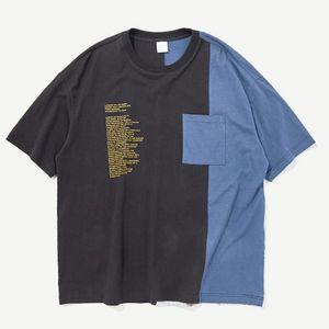 HFNF Uzay Astronot Dikiş Kontrast Renk Gevşek Dijital Baskı Erkek T-shirt Nötr Tişört Üst Giyim