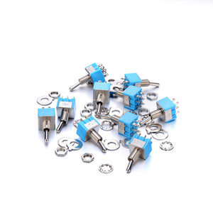 50xMini Light blue MTS-202 Toggle Switch DPDT Double Pole Double Throw 2 Positions ON-ON 250V 3A 125V 6A MTS-202